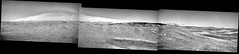 Mount Sharp and Right-Side View, variant (sjrankin) Tags: 17june2019 edited panorama nasa mars msl curiosity galecrater mountains sky haze dust rocks grayscale mountsharp