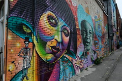 Toronto, ON (dangaken) Tags: ontario toronto to gta greatertorontoarea canada ca wethenorth on torontoon cdn summer fujix fuji fujifilmxt2 xt2 fujixt2 fujixseries june2019 grafitti graffiti graffitialley spray paint spraypaint streetart art publicart color rushln rushlane colorful uber5000 artist vibrant vandalism alley painting fashiondistrict queenstreetwest spadina