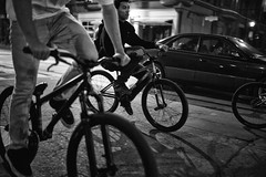 BMX (alisdair jones) Tags: summiluxm11435asph leica m240 toronto queen street west bmx bicycles night