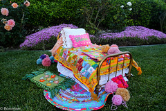 The Nosegay Dollhouse-The Old Doll Bed with New Bedding (bonmwe) Tags: