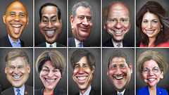 Democratic Primary Debate Participants June 26, 2019 (DonkeyHotey) Tags: democratic democrats dnc 2020 president primary debate june26 2019 corybooker juliancastro billdeblasio johndelaney tulsigabbard jayinslee amyklobuchar betoorourke timothyryan elizabethwarren donkeyhotey photoshop caricature cartoon face politics political photo manipulation photomanipulation commentary politicalcommentary campaign politician caricatura karikatuur karikatur