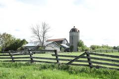 Farm Scene (Mick L.) Tags: farm scene fence silo barn dunrobin ontario
