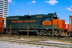 Las Vegas NV 1981 WP by Harv Kahn image490434 (Ray Tutaj Jr) Tags: harv kahn western pacific fallen flag railroad trains las vegas nevada