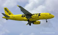 Spirit A319 ~ N526NK (© Freddie) Tags: aruba oranjestad renaissanceisland aua spirit airbus a319 n526nk named aerogal tnca tncaaua fjroll ©freddie