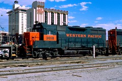Las Vegas NV 1981 WP by Harv Kahn image490431 (Ray Tutaj Jr) Tags: las vegas nevada kahn pacific club mint hotel trains railroads western