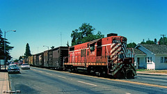 Stuck in Lodi (C.P. Kirkie) Tags: lodi california centralcaliforniatraction cct shortlinerailroad streetrunning railroads trains freighttrain emd gp18
