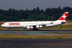 Swiss | Airbus A340-300 | HB-JMI | Tokyo Narita (Dennis HKG) Tags: aircraft airplane airport plane planespotting staralliance canon 7d 100400 swiss swissair swr lx airbus a340 a340300 airbusa340 airbusa340300 hbjmi