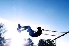 summer days (-liyen-) Tags: activeassignmentweekly boy swing silhouette contrejour fujixt2 playground sun sky