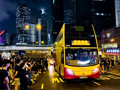 #8046 SP9684 evacuated from Harcourt Road after being blocked by protesters at 16/6/2019 (chilam175) Tags: 8046 protest