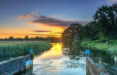 Avon Sunrise (nicklucas2) Tags: landscape avon river ringwood hampshire sun sunburst sunrise cloud water