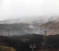 Evaporation (Robyn Hooz) Tags: lunedi lava evaporation caldo heat pioggia rain cima vulcano volcano cablecar salita up sicilia sicily