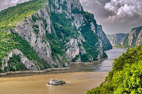 The Danube at the Iron Gate - after heavy thunderstorms and at high tide