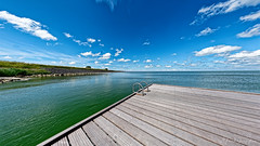 It's A Good Day For A Swim (Alfred Grupstra) Tags: blue sea summer sky lake beach nature water landscape outdoors pier jetty nopeople coastline relaxation plank vacations scenics tranquilscene 941 woodmaterial
