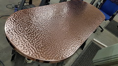 Hand Beaten Copper Table Top (Metal Sheets Limited) Tags: hand beaten copper table