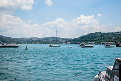 Life in Istanbul III (Vagabundina) Tags: bosphorus istanbul sea water blue sky clouds nature summer outdoor city waterscape cityscape port beach boat sail wind relax sunday weekend enjoy nikon nikond5300 dsrl