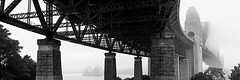 Fogged Icons (Ray Jennings AU) Tags: sydneyoperahouse sydneyharbourbridge sigma35mm14art panorama rayjennings fog