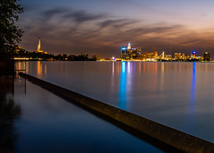 River Lights (Neil Cornwall) Tags: 2019 canada detroitriver june ontario reaumepark windsor riverfront sunset