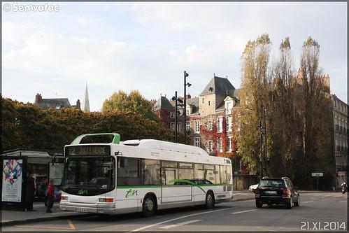 Heuliez Bus GX 217 GNV - Semitan (Société d'Économie MIxte des Transports en commun de l'Agglomération Nantaise) / TAN (Transports en commun de l'Agglomération Nantaise) n°411