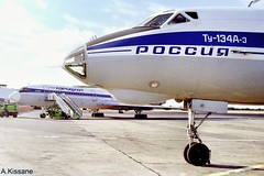 SHANNON AIRPORT (Adrian.Kissane) Tags: ground aviation russian ireland sky ramp outdoors airplane airport aircraft jet aeroplane plane shannonairport tu154 tu134 rossiya aeroflot shannon