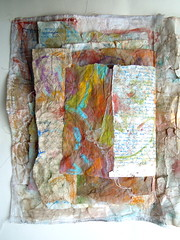 Layers Of Time - volume 21 (MizzieMorawez) Tags: paper texture mixedmedia color collage innovative artist´sbook art painting drawing sketching recycling handmade stitched layers junkart papercraft loveletters longtermproject infinite booklet handmadecover experimental