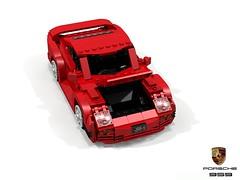Porsche 959 (lego911) Tags: porsche 959 supercar 4wd awd turbo boxer 1986 1980s auto car moc model miniland lego lego911 ldd render cad povray german germany afol groupb coupe