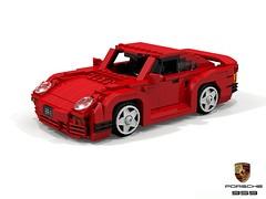 Porsche 959 (lego911) Tags: porsche 959 supercar 4wd awd turbo boxer 1986 1980s auto car moc model miniland lego lego911 ldd render cad povray german germany afol groupb coupe foitsop