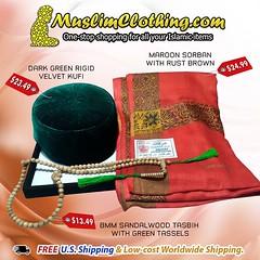 We offer a large selection of Islamic items including Rigid velvet Kufis, Men's Yemeni-style Sorban Scarves, and Muslim prayer beads (muslim.clothing) Tags: tasbih sibha tarim sorban peci kufihats muslimhats fezhats misbaha muslimprayerbeads prayerbeads muslimrosary muslmclothing prayercaps moslem moslemwear haji perlengkapanhaji hacimalzemeler tasbeeh dhikr zikir dhikrbeads ghutra kefiyyeh kopiah koofi skullcap
