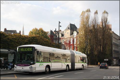 Heuliez Bus GX 427 Hybride - Semitan (Société d'Économie MIxte des Transports en commun de l'Agglomération Nantaise) / TAN (Transports en commun de l'Agglomération Nantaise) n°801