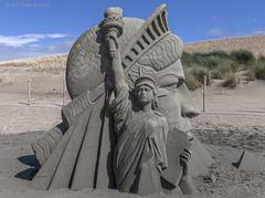 Liberty (Pieter Musterd) Tags: liberty statueofliberty zandsculpture sandsculpture kijkduin beach strand pietermusterd musterd canon pmusterdziggonl nederland holland nl canon5dmarkii canon5d denhaag 'sgravenhage thehague lahaye