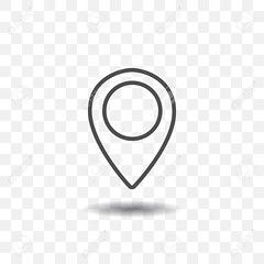 Outlined map location pointer icon on transparent background. Map pin for target or destination. (suzannademey) Tags: pointer map icon location vector pin symbol illustration graphic design marker travel sign element web label button place isolated flat gps blue point business white circle mark arrow navigation abstract direction background position internet simple shape banner number rate digit score numeral grade art target area territory important one outlined