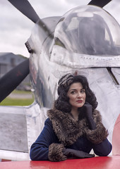 Dreaming (Harleycy3) Tags: pinupsfighters timelineevents girls marilyn models posing ww11 aircraft