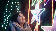 wish upon a shooting star (the snow bunny) Tags: star xmas vancouver night