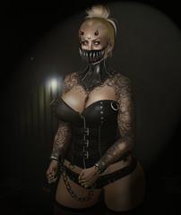 Hellraiser (Ginger Krokus) Tags: gingerkrokus goth gothic scary spooky horror devil demon secondlife sl virtual virtualworld doux insanya aii valkyr lelutka asteroidbox bdsm sexy