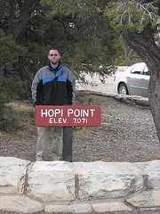 Img0456 (rugby#9) Tags: grandcanyon hopipoint 7071 sign text coat jacket tree trees wall arizona usa us