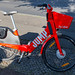 E-Bike Sharing Jump by Uber starts in Berlin with red bicycles