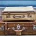 Zwei alte Reisekoffer im Vintagestil erinnern an den Siebenstein-Koffer
