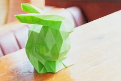 Nahufnahme von einem grünen Kaninchen geschafft durch 3D Druck (verchmarco) Tags: bcko19 bcbn19 koblenz basecamp hostel bcbn20 barcamp bcko20 bonn indoors drinnen noperson keineperson nature natur family familie wood holz handmade handgemacht one ein christmas weihnachten paper papier bright hell leaf blatt origami love liebe furniture möbel interiordesign innenarchitektur blur verwischen color farbe traditional traditionell creativity kreativität leisure freizeit2019 2020 2021 2022 2023 2024 2025 2026 2027 2028 2029 2030 dusk owl kodak mono camera truck pier shop outside spain
