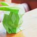 Nahufnahme von einem grünen Kaninchen geschafft durch 3D Druck