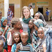 Ms Nathalie Wohlfart, UNICEF Luxembourg takes group picture with local girls at Megale Woreda, Adu Kebele, Afar Region.