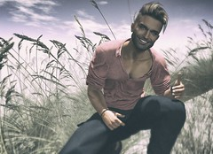 """""""Resolve to keep happiness and your joy, and you shall form an invincible host against difficulties."""" (Roy Mildor / Creator) Tags: roymildor photographer sl secondlife smile guy man men male cool profile promotion poster singer field korn"""