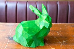 Three-dimensional print of a green Easter bunny from the 3D printer (verchmarco) Tags: bcko19 bcbn19 basecamp hostel koblenz bcbn20 barcamp bcko20 bonn noperson keineperson wood holz nature natur bright hell shining leuchtenden indoors drinnen christmas weihnachten color farbe design art kunst desktop luxury luxus leaf blatt paper papier interiordesign innenarchitektur jewelry schmuck origami love liebe dark dunkel decoration dekoration2019 2020 2021 2022 2023 2024 2025 2026 2027 2028 2029 2030 historic fence ciel owl kodak shop ice eos harbour
