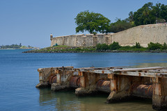 Old Pier with City Wall (guillecabrera) Tags: colonial historic old spanish conquistador port oceanfront oldsanjuan fortifications sony a7iii tamron 2875mmf28e