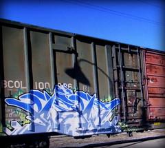 rekd (timetomakethepasta) Tags: rekd freight train graffiti art bcol boxcar british columbia railway bc rail