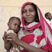 Elisha Hussien, 20, with her one-year-old daughter Keriya Ibrahim.