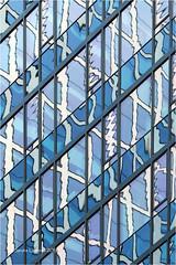 Wonky Reflections (Sandra Lipproß) Tags: ffm frankfurtammain architecture modern glas reflection city abstract germany skyscraper facade fassade architektur spiegelung blau blue weiss white wonky