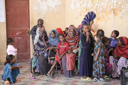 Mothers who said no to FGM gathered with their children to greet guests from UNICEF Luxemburg and UNICEF Ethiopia.