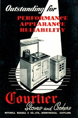 Courtier Cooking and Heating Stoves. Mitchell Russell & Co., Bonnybridge (growlerthecat) Tags: stoves heating cooker cookingrange castiron catalogue mitchellrussell bonnybridge courtier