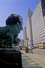 Let's Go Hawks (craigsanders429) Tags: chicago chicagoartinstitute streetscenes street michiganavenue city cityscapes cityscenes urbanscenes urban tallbuildings