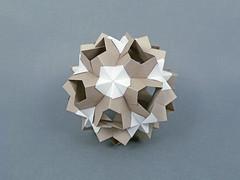 Alchemy Moon (masha_losk) Tags: kusudama кусудама origamiwork origamiart foliage origami paper paperfolding modularorigami unitorigami модульноеоригами оригами бумага folded symmetry design handmade art