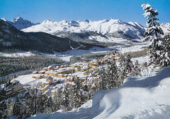 Postkarte / Schweiz (micky the pixel) Tags: mountains alps landscape schweiz switzerland suisse postcard ephemera alpen landschaft engadin gebirge postkarte pontresina grischun kantongraubünden berninapass